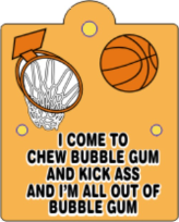 basketball bubble gum