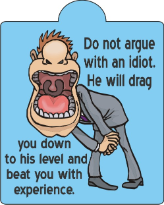 argue with idiot