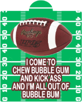 football bubble gum